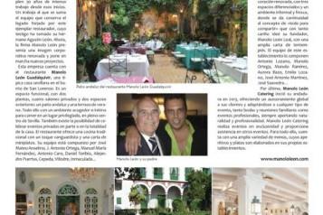Manolo León cumple 30 años en el mundo de la restauración