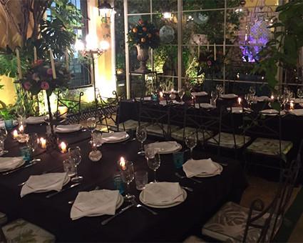mesa romantica restaurante sevilla