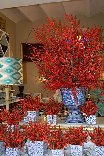 flores navidad restaurantes sevilla