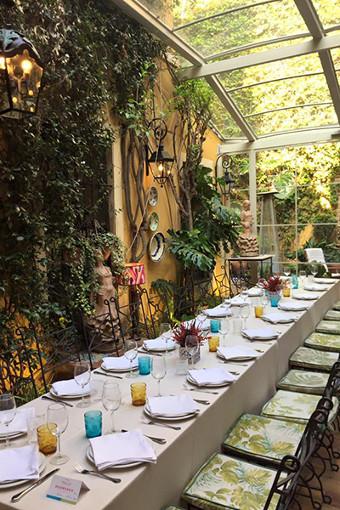 patio navidad restaurantes sevilla