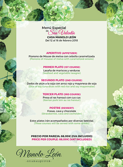 menu guadalquivir restaurantes sevilla