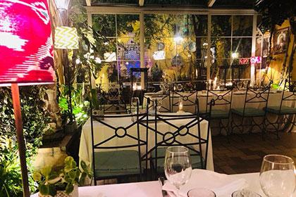 patio noche restaurantes sevilla