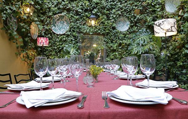 detalles mesa restaurantes sevilla
